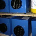 3 KW Heiztrockner unterstützen die schnelle Bautrocknung.